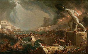 The Course of Empire (paintings) - Image: Cole Thomas The Course of Empire Destruction 1836