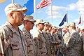 Colonel Wendy Kelly gives awards at Camp Justice, Guantanamo.JPG