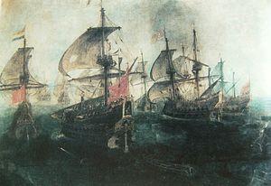 Combate Naval en el Estrecho de Gibraltar, Segunda Vista.jpg