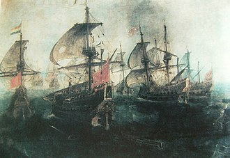 Battle of Gibraltar (1621) - Image: Combate Naval en el Estrecho de Gibraltar, Segunda Vista