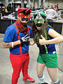 Comikaze Expo 2011 - Mario and Luigi unicorn people (6324630123).jpg