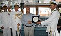 Commandant Rajan presents a memento to RK Mathur.jpg
