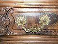 Commode cintrée style Louis XV, 1ère moitié 18e, feuillage, fleur, coquille 3.JPG