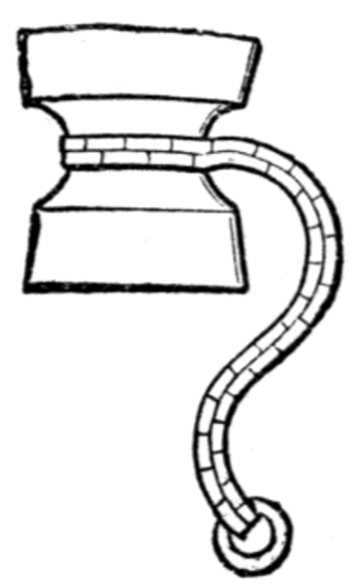William de la Pole, 1st Duke of Suffolk - Suffolk's badge: an ape's clog argent chained or