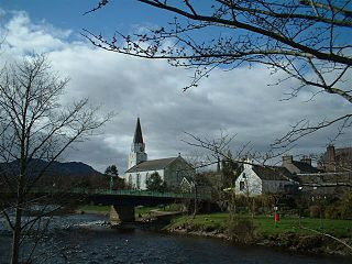Comrie village in Perthshire