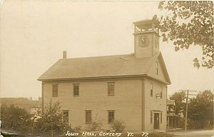 Concord, Vermont -  Concord townhall, 1877
