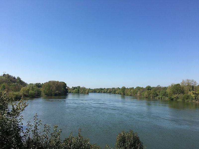 Confluent Ariège-Garonne au sud de Toulouse