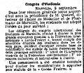 Congrès d'étudiants - La Justice - 6 septembre 1906 - page 1, 1ère colonne.jpg