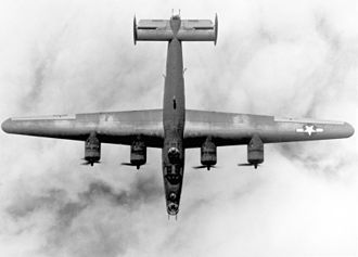 Pedro Infante - B-24 Liberator photographed from above.