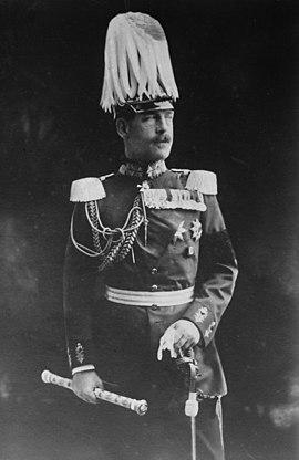 Constantino I en uniforme de soldado alemán