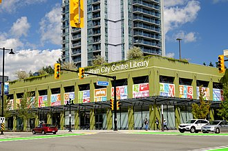 Coquitlam Public Library - Image: Coquitlam City Centre Library