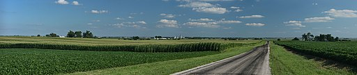 Corn fields near Royal, Illinois