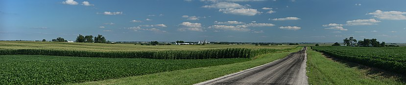 Corn fields near Cayuga, Indiana