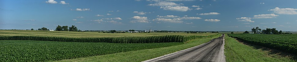 Corn and soybean fields near Royal, Illinois