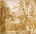 Cornelis Hendrickszoon Vroom - Trees behind a Wooden Fence, c. 1638-1642 - Google Art Project.jpg