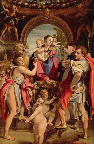 Madonna and Child with Saint George - Image: Correggio 043