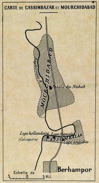 Cossimbazar - Cossimbazar and Murshidabad in the mid-18th century