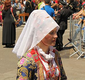 Ollolai - Woman in traditional ollolai's dress