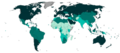 Countries by Human Development Index category (2020).png