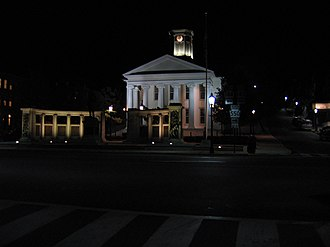 Bellefonte, Pennsylvania - Courthouse at night