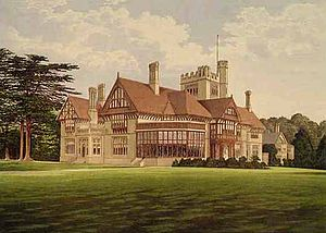 Cowdray Park, West Sussex - A picture of Cowdray Park published in 1880.