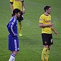 Craig Cathcart, Diego Costa, Chelsea 3 Watford 0 FA Cup 3rd round.jpg