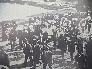 Crew of Potemkin in Constanza ashore.JPG