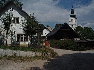 Crngrob Place in Upper Carniola, Slovenia
