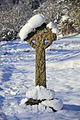 Cross in the snow - geograph.org.uk - 1658460.jpg