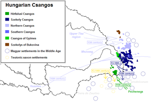 Csangos - Migration of the Hungarian Csángós