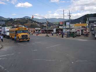 Quetzaltenango - The Cuatro Caminos intersection outside the city.