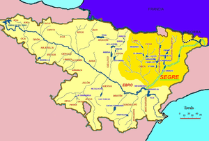 Segre (river) - Image: Cuenca del Segre