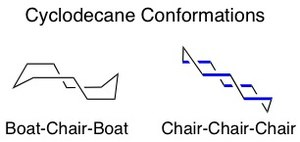 Macrocyclic stereocontrol - Image: Cyclodecane configurations