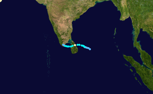 2000 Sri Lanka cyclone - Image: Cyclone 04B 2000 track