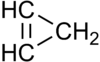 Structural formula of cyclopropene