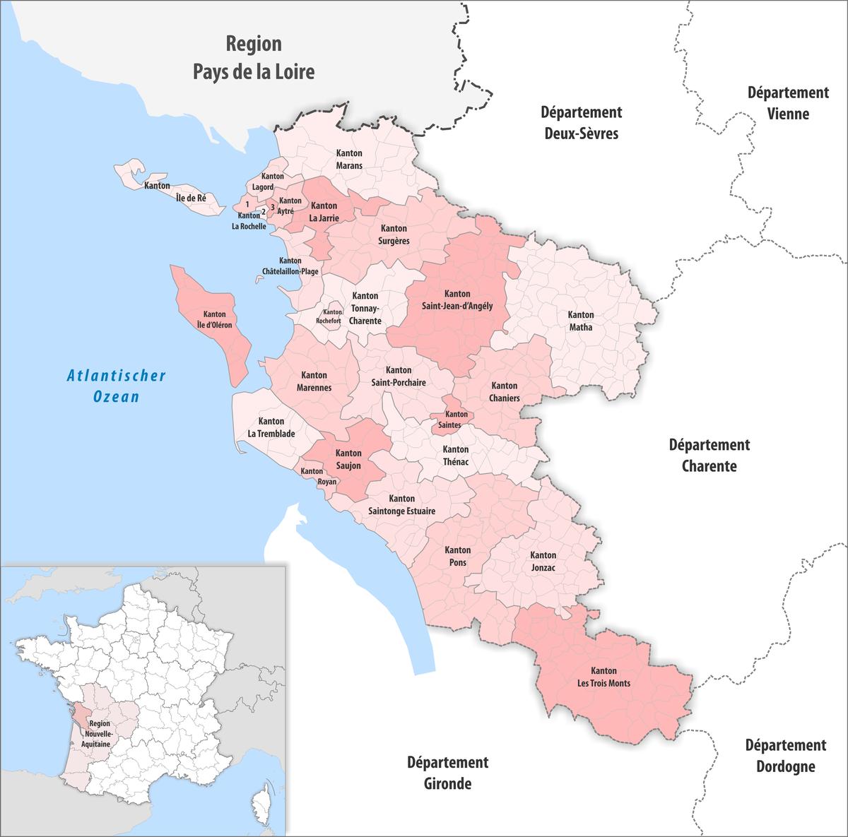 Liste der kantone im d partement charente maritime wikipedia - Chambre des notaires charente maritime ...