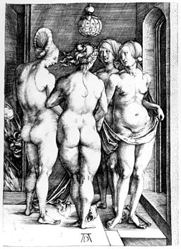 Albrech Dürer, The Four Witches, 1497, Wikimedia Commons