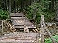 Dřevěný most přes potok v Západních Tatrách.jpg