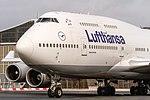 D-ABVX Lufthansa Boeing 747-430 on taxiway for further departure to Detroit (DTW) @ Frankfurt Rhein-Main International (FRA).jpg