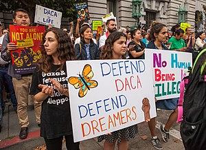 Deferred Action for Childhood Arrivals - Protesters in San Francisco, September 5, 2017