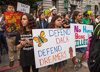 Deferred Action for Childhood Arrivals - Protesters in San Francisco, September 5, 2017