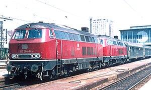 DB Class 210 - Two DB 210 locomotives at Munich station (1973)