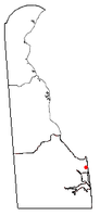 Location of Henlopen Acres, Delaware