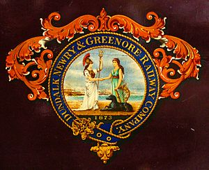 Dundalk, Newry and Greenore Railway - Image: DNGR Crest