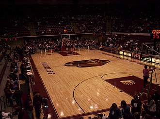 Dahlberg Arena - Basketball court in 2006