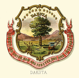 Dakota Territory - Dakota territory historical coat of arms (illustrated, 1876)