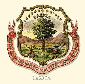 Dakota Territory - Dakota territory historical coat of arms (illustrated, 1876)