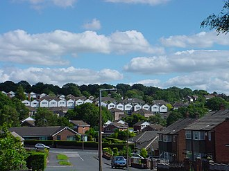 Cookridge - The Dale Parks from Moseley Wood area