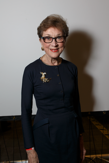 Dame Carol M. Black photographed at the BBC 100 Women Wikipedia editathon on 8 December 2016.png