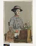 Dame Maud Mccarthy Gbe Rrc- the Matron-in-chief in France of Queen Alexandra's Imperial Military Nursing Service Art.IWMART3204.jpg
